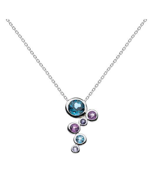 Kit Heath   Blue Sterling Silver Cascade Topaz Amethyst Pendant Necklace   Lyst