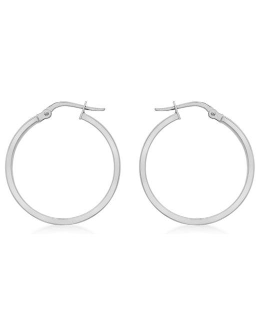 Ib&b - 9ct White Gold Hoop Earrings - Lyst