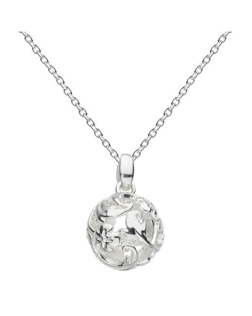 Kit Heath - Metallic Sterling Silver Carved Ball Pendant - Lyst