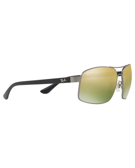 d7401de2c5 ... Ray-Ban - Metallic Rb3604 Men s Square Sunglasses for Men - Lyst