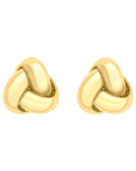 Ib&b - Metallic 9ct Gold Knot Stud Earrings - Lyst
