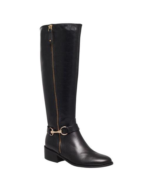 Carvela Kurt Geiger - Black Waffle Leather Horsebit Trim Knee Boots - Lyst