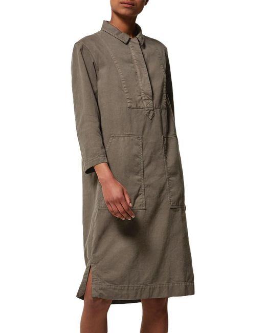 Toast   Green Cotton Twill Workwear Dress   Lyst