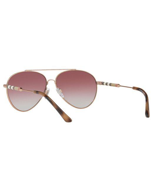 0b4366a0257 ... Lyst Burberry - Multicolor Be3092q Women s Aviator Sunglasses ...