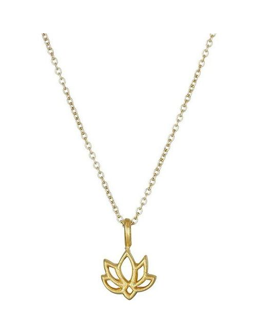 Dogeared | Metallic New Beginnings Happy Lotus Reminder Pendant Necklace | Lyst