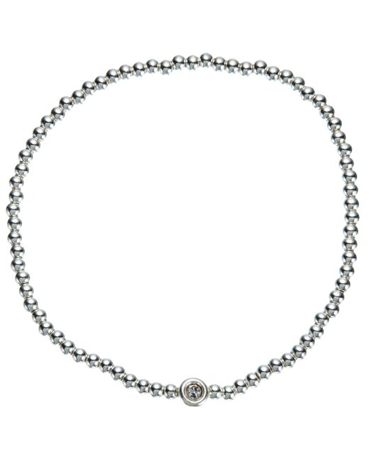 John Lewis   Metallic Mini Bead And Diamante Stretch Bracelet   Lyst