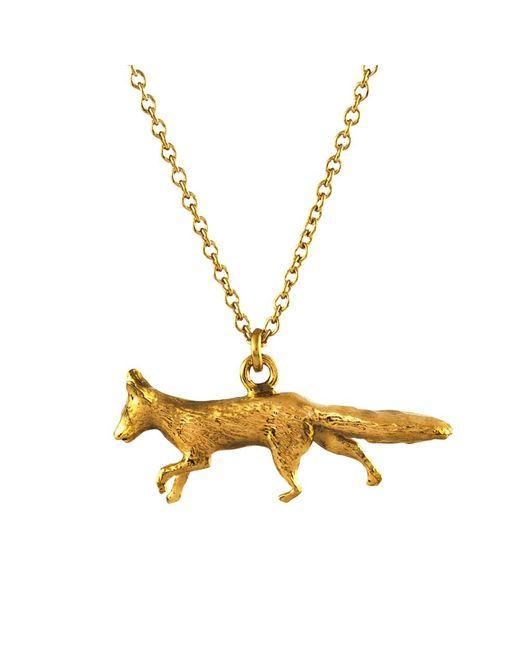Alex Monroe | Metallic 22ct Gold Vermeil The Chase Prowling Fox Pendant | Lyst