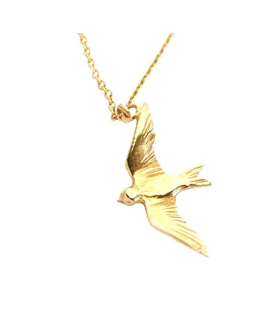 Alex Monroe | Metallic Flying Swallow Pendant Necklace | Lyst