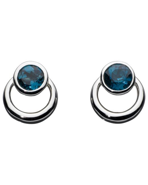 Kit Heath | Metallic Sterling Silver Simmer Loop Blue Topaz Earrings | Lyst