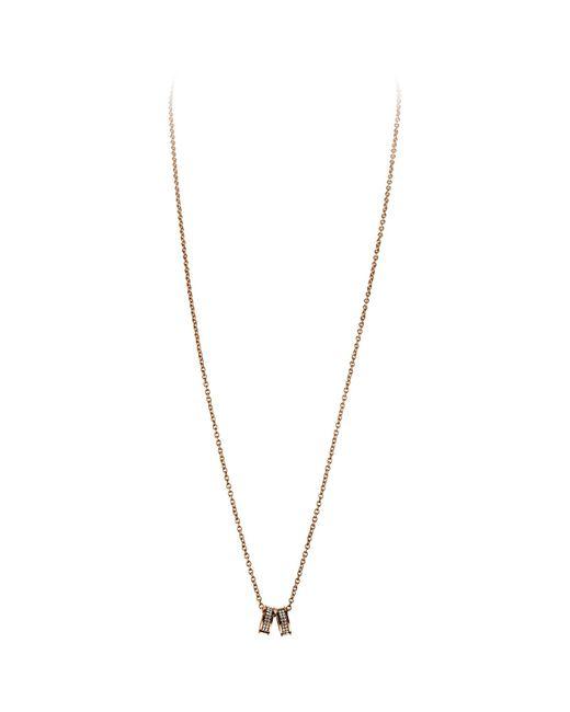 Dyrberg/Kern | Pink Dyrberg/kern Fermi Swarovski Crystal Double Band Pendant Necklace | Lyst