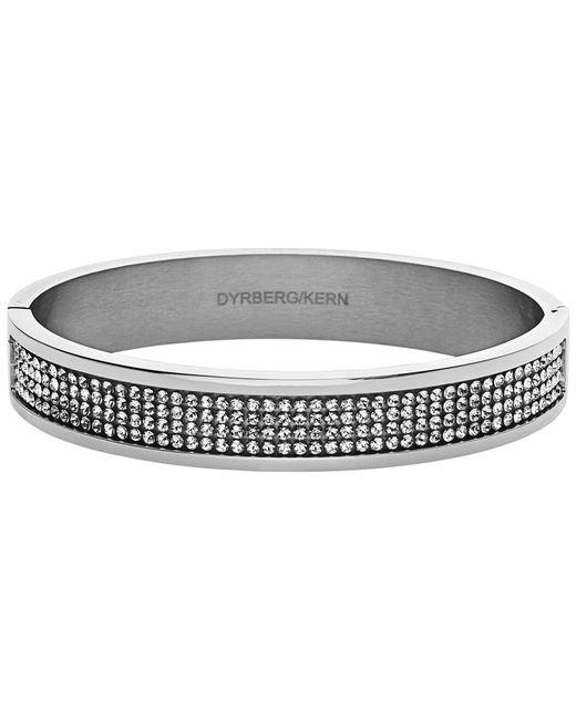 Dyrberg/Kern | Metallic Dyrberg/kern Heli Silver Swarovski Bangle | Lyst