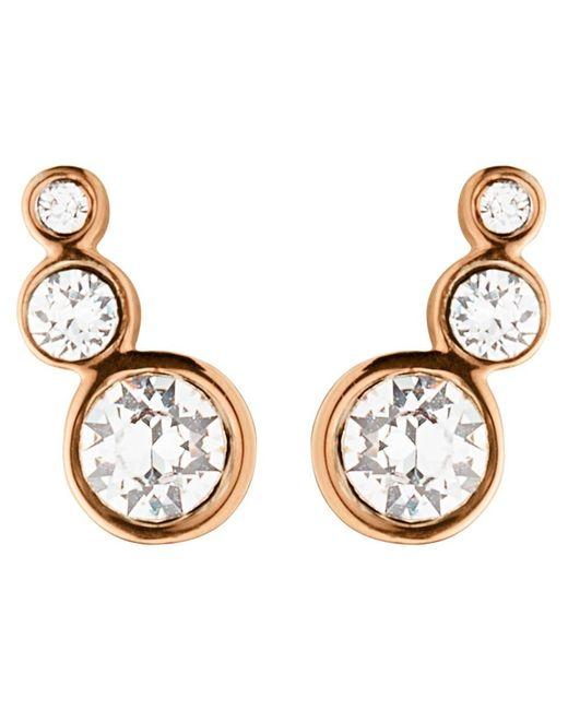 Dyrberg/Kern | Metallic Dyrberg/kern Small Swarovski Crystal Stud Earrings | Lyst