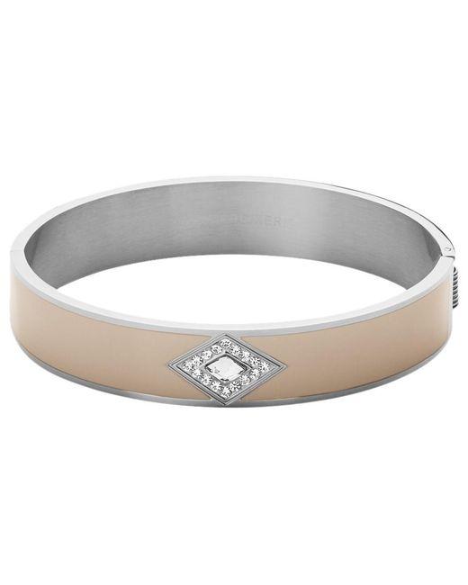 Dyrberg/Kern | Metallic Dyrberg/kern Enamel Diamond Shape Crystal Bangle | Lyst