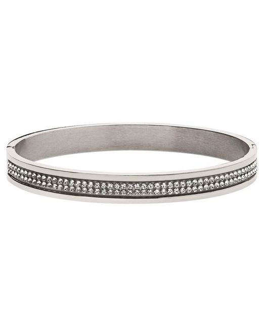 Dyrberg/Kern | Metallic Dyrberg/kern Lorbel Double Row Crystal Set Bangle | Lyst