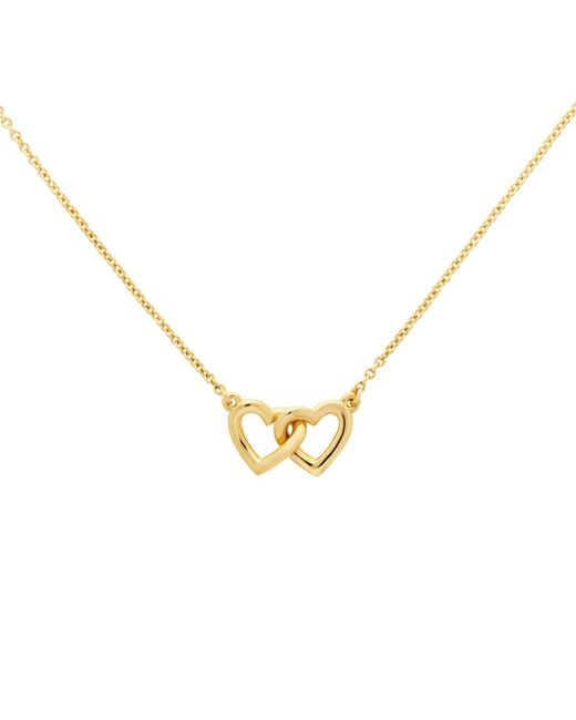 Melissa Odabash | Metallic Gold Plated Double Heart Necklace | Lyst
