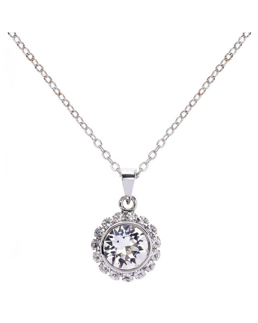 Ted Baker | Metallic Sela Crystal Daisy Pendant Necklace | Lyst