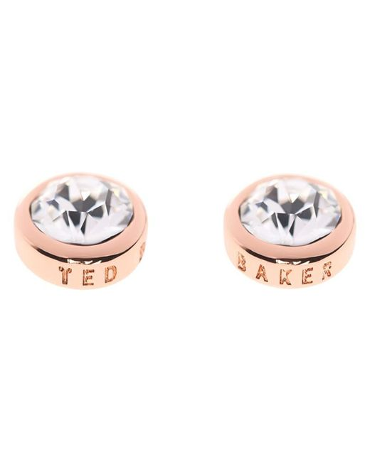 Ted Baker | Pink Sina Crystal Stud Earrings | Lyst