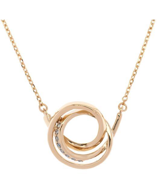 Karen Millen | Metallic Swarovski Crystal Ribbon Pendant | Lyst