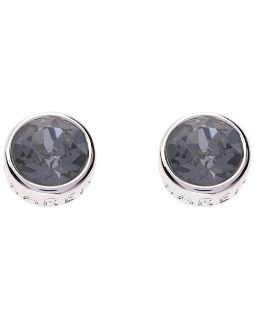 Karen Millen | Metallic Logo Stud Earrings | Lyst