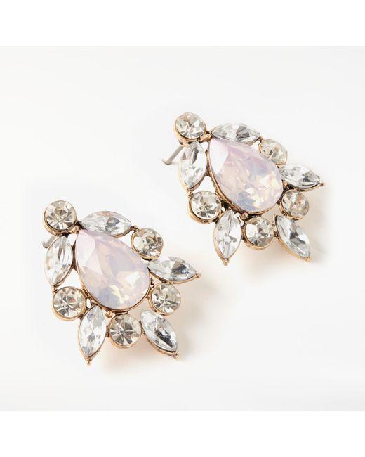 John Lewis | Multicolor Glass Crystal Cluster Stud Earrings | Lyst
