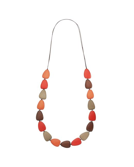 One Button | Natural Single Row Teardrop Pebble Necklace | Lyst