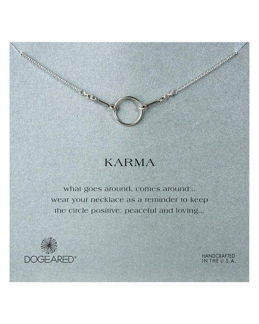 Dogeared | Metallic Original Karma Sterling Silver Necklace | Lyst