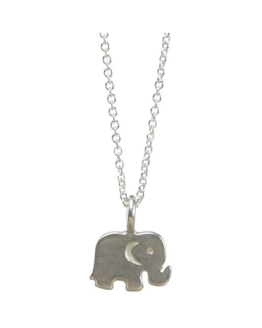 Dogeared | Metallic Sterling Silver Good Luck Elephant Reminder Necklace | Lyst