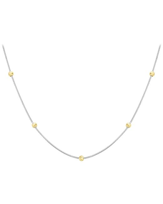 Ib&b | Metallic 9ct Gold Two Colour Hexagonal Snake Chain Necklace | Lyst