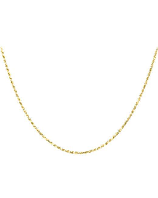 Ib&b | Metallic 9ct Gold Diamond Cut Rope Chain | Lyst