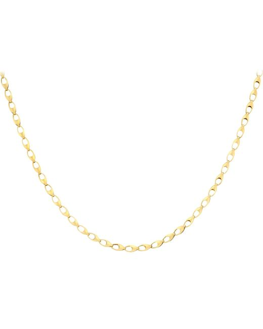 Ib&b | Metallic 9ct Yellow Gold Oval Link Necklace | Lyst