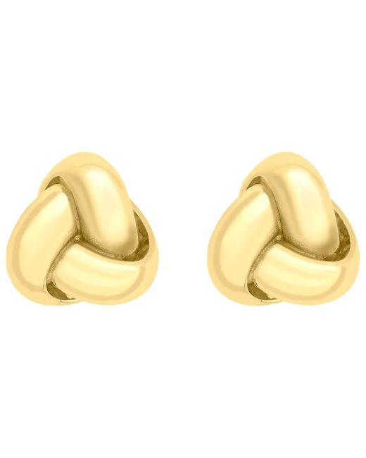Ib&b | Metallic 9ct Gold 8mm Knot Stud Earrings | Lyst