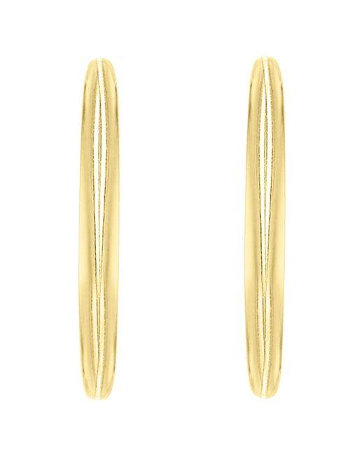 Ib&b | Metallic 9ct Gold Plain Hoop Earrings | Lyst