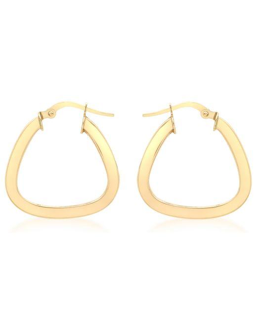 Ib&b | Metallic 9ct Yellow Gold Triangle Shaped Creole Earrings | Lyst