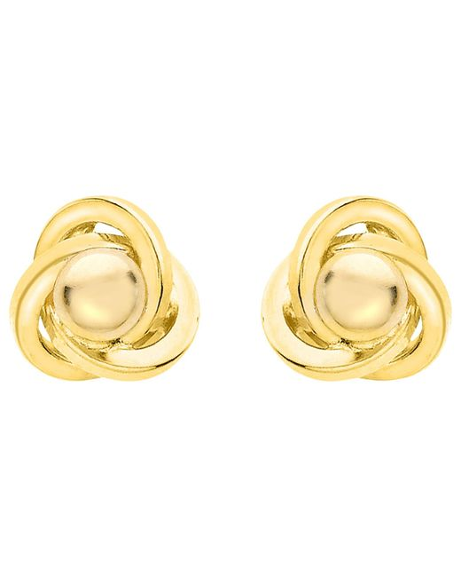 Ib&b | Metallic 9ct Yellow Gold Knot Stud Earrings | Lyst