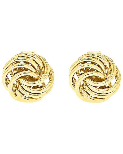 Ib&b | Metallic 9ct Gold Mini Rose Stud Earrings | Lyst