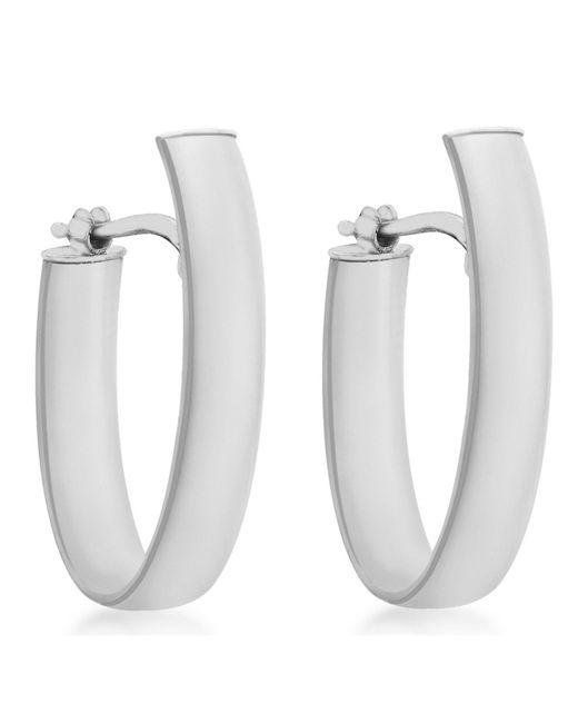 Ib&b | Metallic 9ct White Gold Polished Huggy Hoop Earrings | Lyst