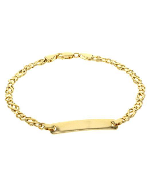 Ib&b | Metallic 9ct Gold Celtic Id Bracelet | Lyst
