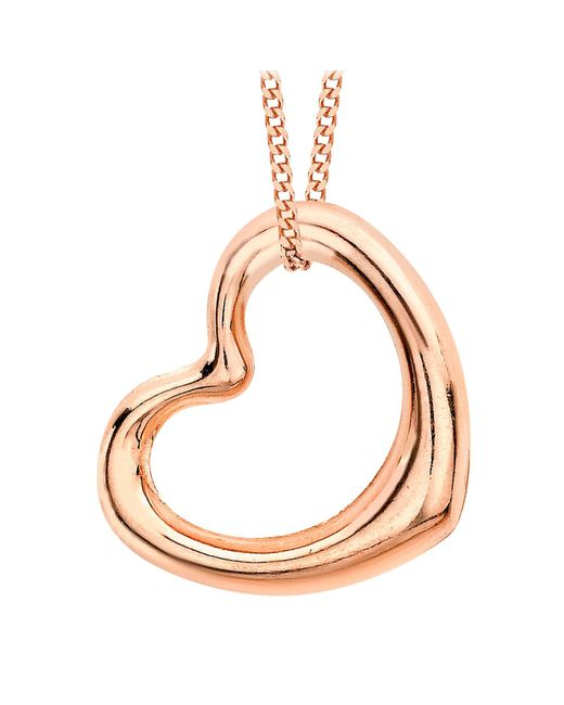 Ib&b | Pink 9ct Rose Gold Heart Pendant | Lyst