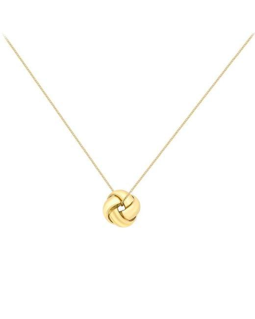 Ib&b | Yellow 9ct Gold Knot Pendant | Lyst