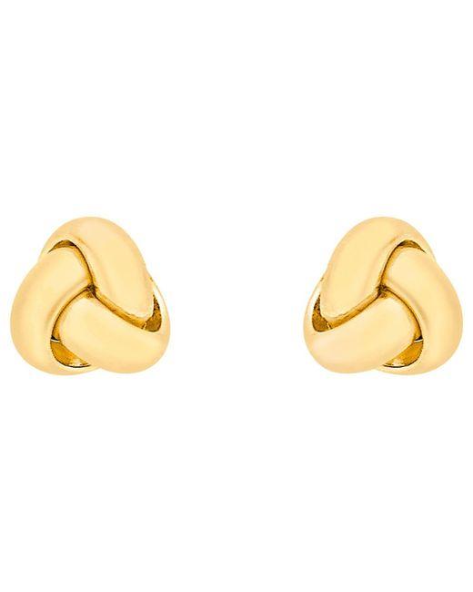 Ib&b   18ct Yellow Gold Knot Stud Earrings   Lyst