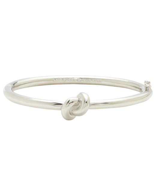 kate spade new york | Metallic Sailor Knot Hinge Bangle | Lyst