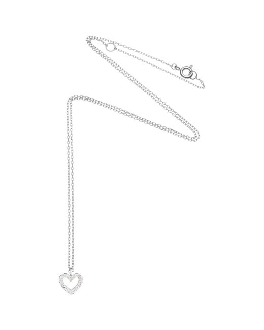 Estella Bartlett | Metallic Fine Sterling Silver Mini Heart Pendant | Lyst