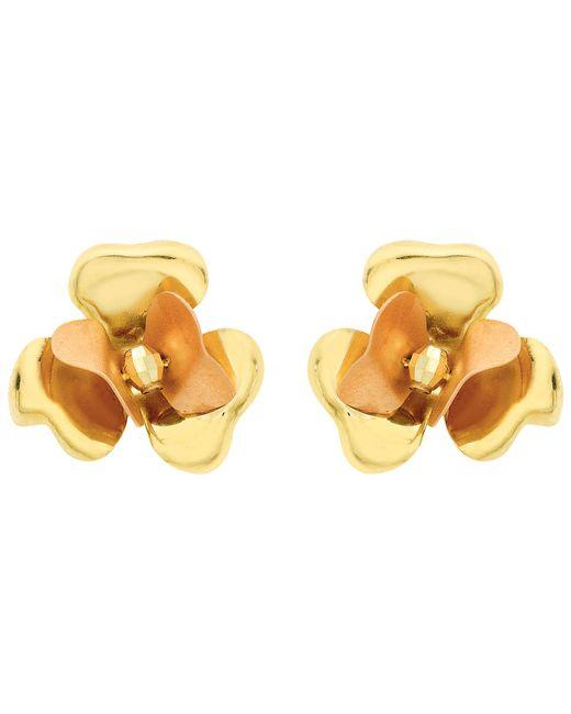 Ib&b - 9ct Yellow Gold Flower Stud Earrings - Lyst