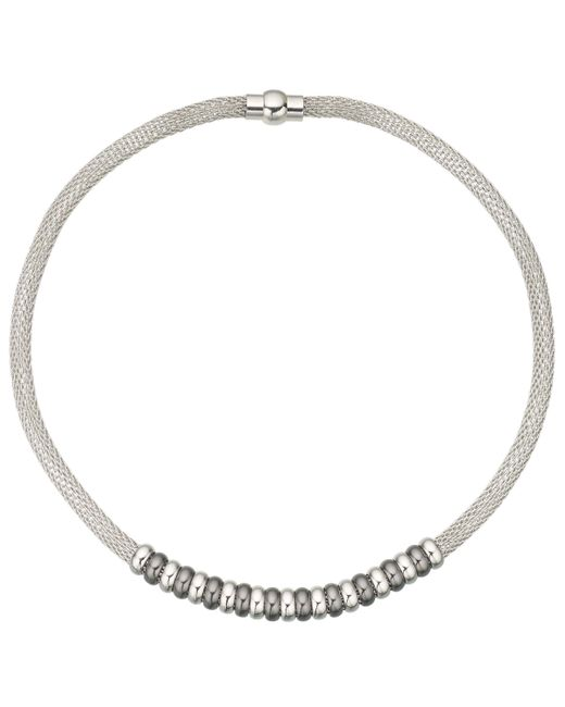 John Lewis - Metallic Mesh Polished Bead Necklace - Lyst