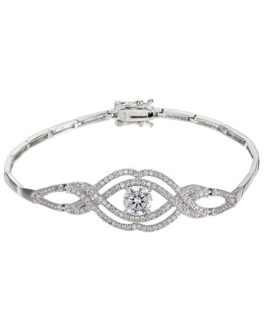 Ivory & Co. - Metallic Heritage Cubic Zirconia Rose Bracelet - Lyst