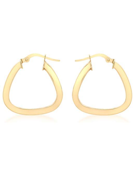 Ib&b - Metallic 9ct Yellow Gold Triangle Shaped Creole Earrings - Lyst