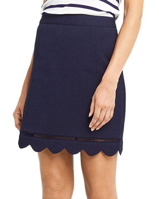 Oasis | Blue Scallop Skirt | Lyst