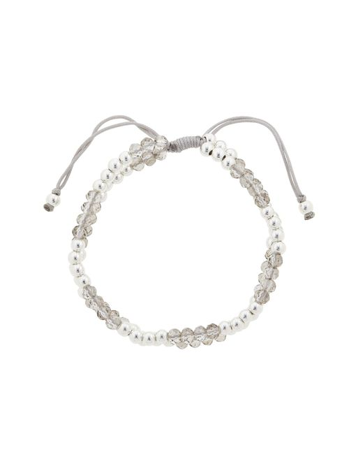 John Lewis | Gray Faceted And Polished Bead Friendship Bracelet | Lyst