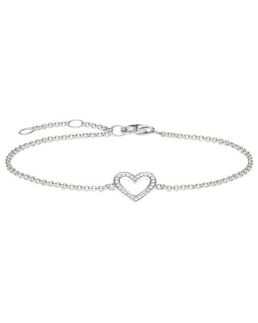 Thomas Sabo - Metallic Glam & Soul Zirconia Pave Heart Bracelet - Lyst
