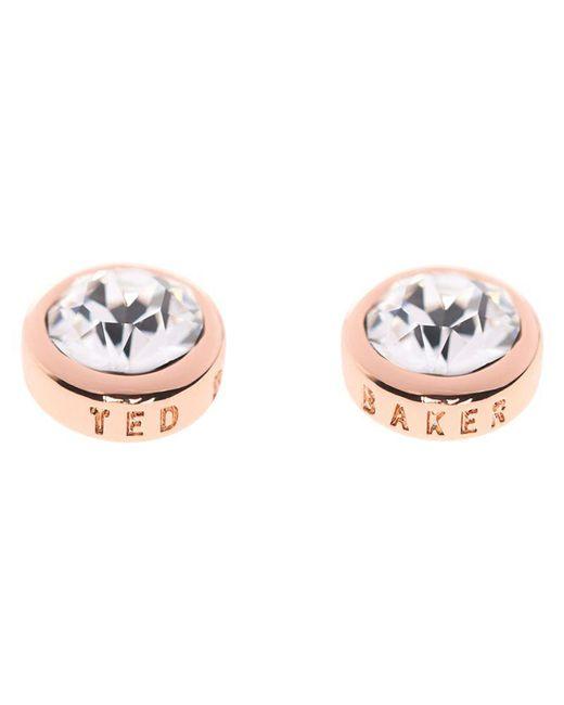 Ted Baker - Pink Sina Crystal Stud Earrings - Lyst